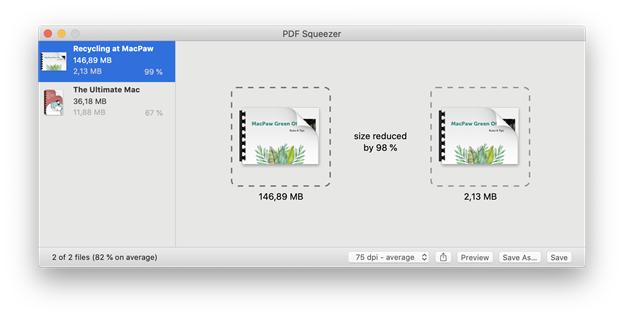 reduce pdf file fize mac