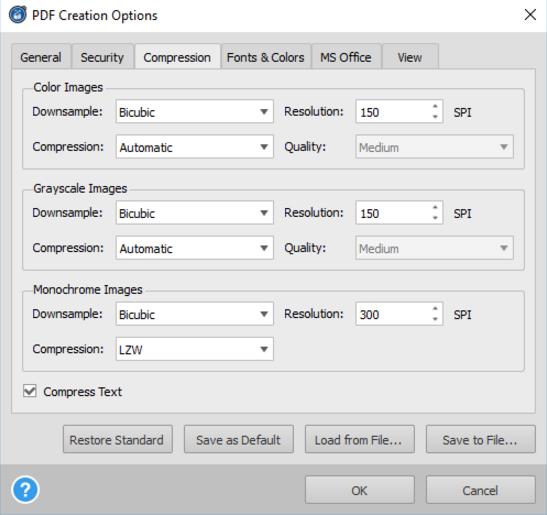 reduce pdf file fize windows