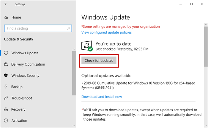 update your windows version