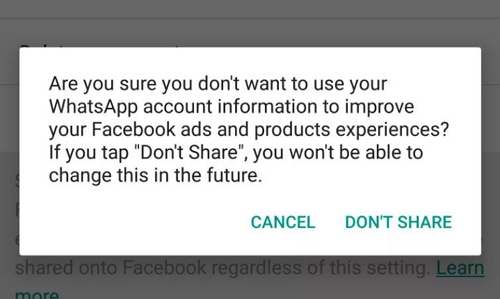 stop apps from spying on WhatsApp chat