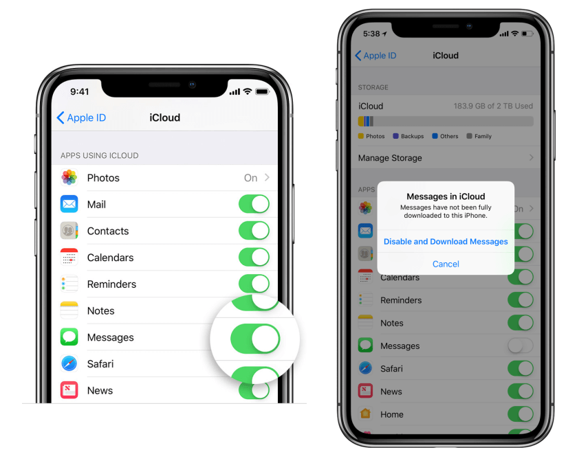 download text messages from iCloud