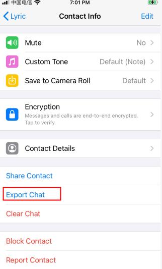 export whatsapp chats