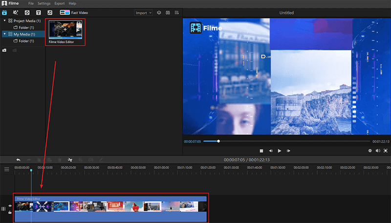 Drag Video to Timeline Editor