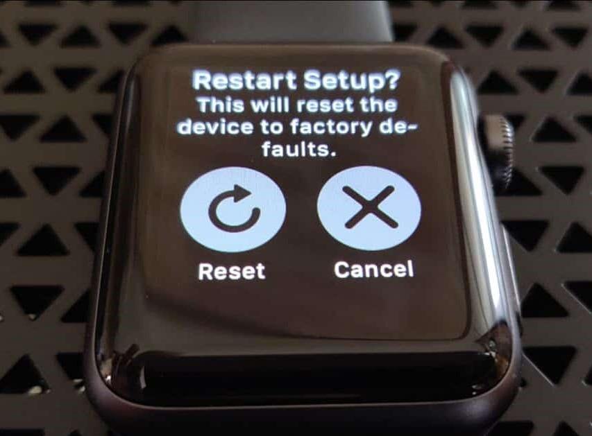 rest button on watch