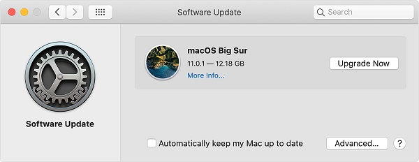 check for macos updates