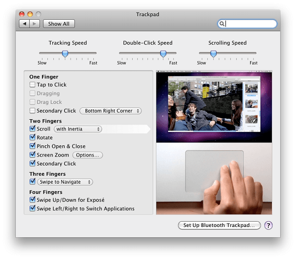 rest trackpad on mac