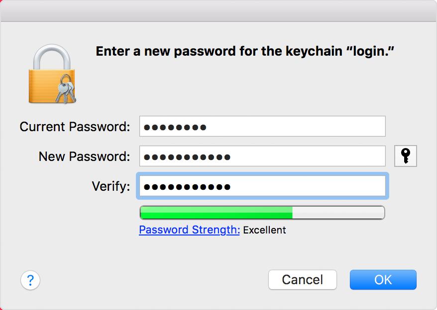 keychain access change password