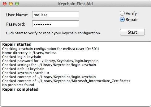 login keychain first aid