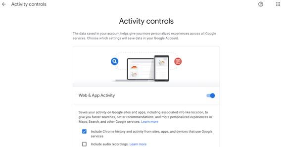 turn off google location activity