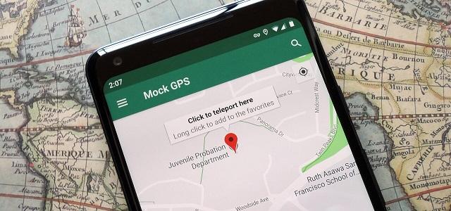 fake location on google map