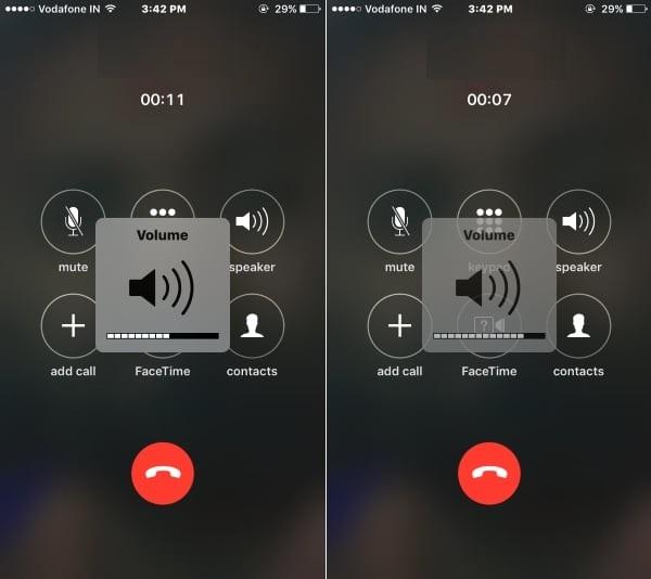 Adjust call volume