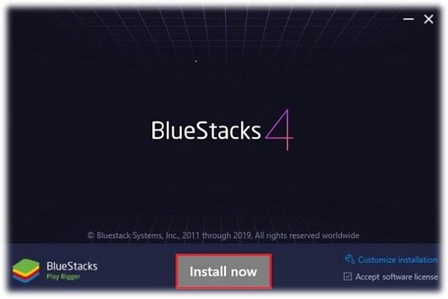 bluestacks install now