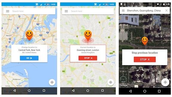Fake GPS location – Hola