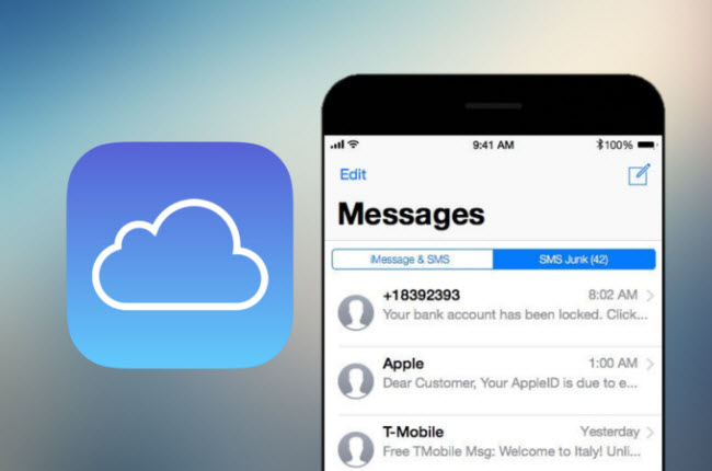 does icloud backup text message