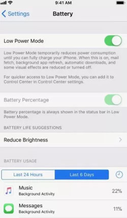 turn off low power mode