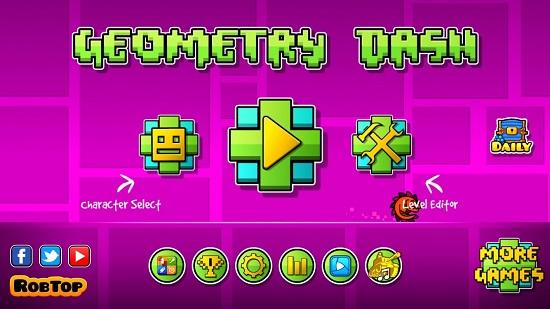 Geometry-Dash-Main-screen