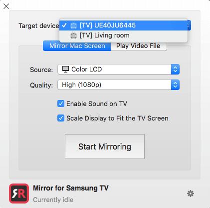 Mirror Mac To Samsung Screen