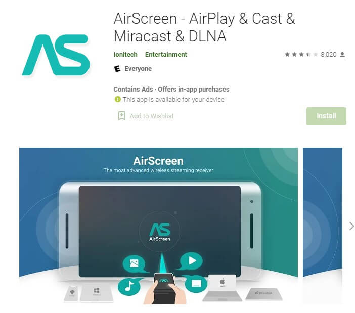 AirScreen - AirPlay & Cast & Miracast & DLNA