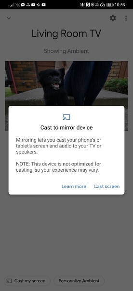 cast to mirror device