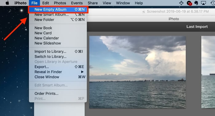compress images with iphoto