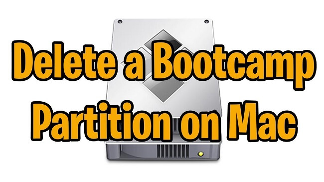 delete bootcamp partition on mac