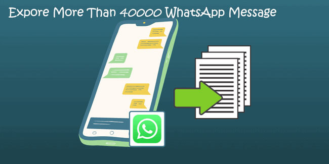 export whatsApp chat message
