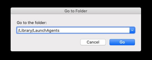 go to library launchagents on mac