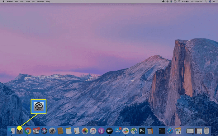 go to mac system preference