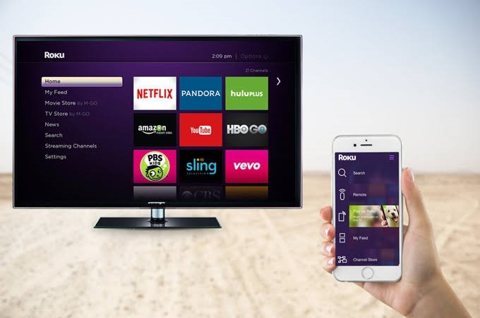 mirror iphone to tv with roku