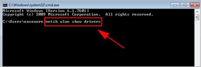 netsh wlan show drivers