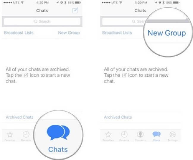 new group whassapt iphone