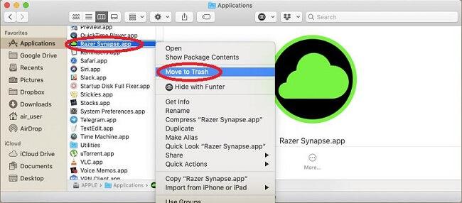 razer synapse manual uninstall app delete