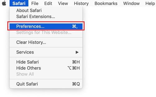 open safari extensions