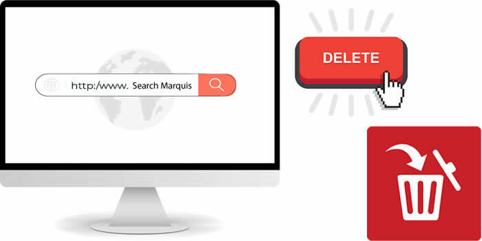 remove search marquis on mac