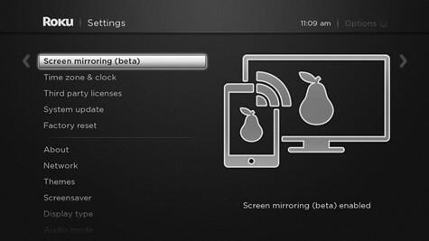 roku screen mirroring