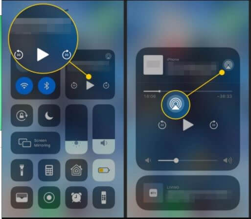 select airplay icon