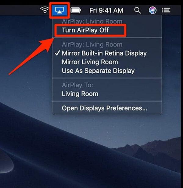 turn airplay off