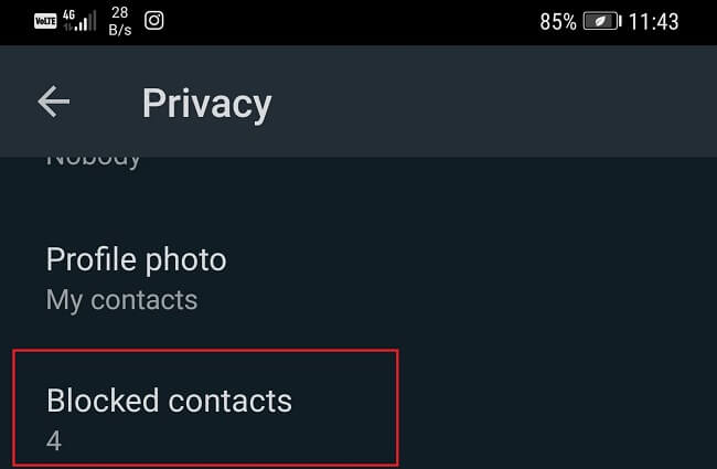 blocked contacts whatsapp