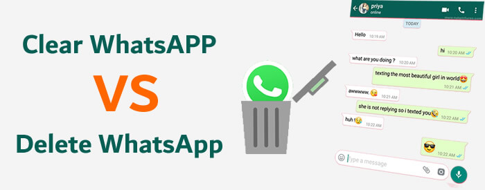 clear whatsapp vs delete whatsapp
