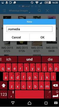 create nomedia file to hide whatsapp photos