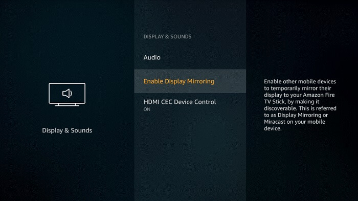 how to screen mirror android to firestick step