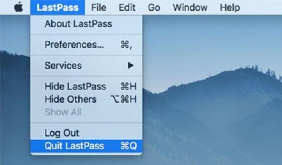 quit lastpass manually 1