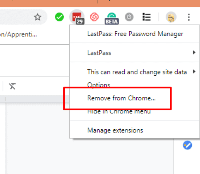 remove lastpass from chrome