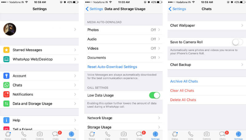 stop whatsapp photo auto download on iphone