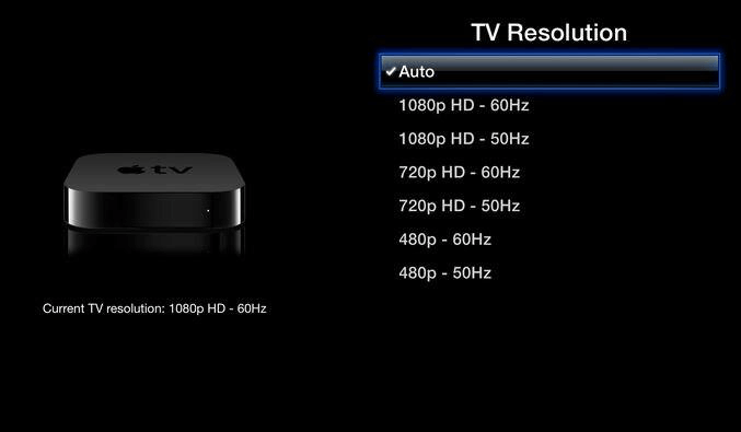Apple TV auto resolution
