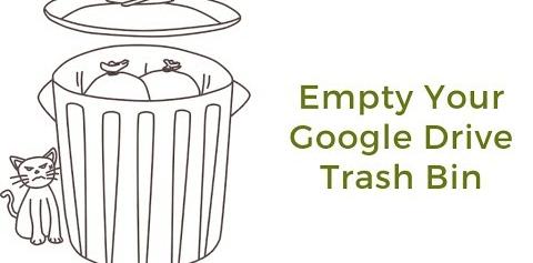 empty google drive trash