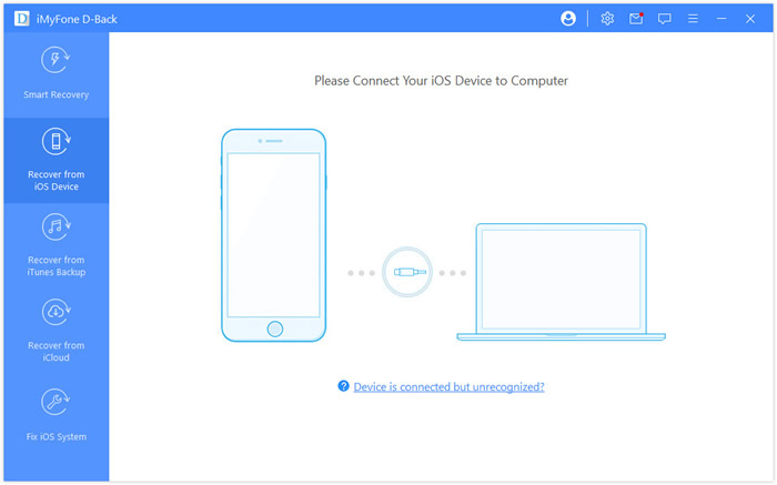 Recover from iOS Device Tab