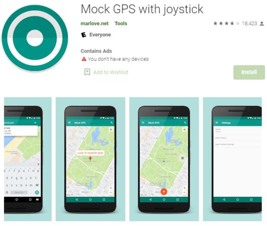 mock GPS with joystick