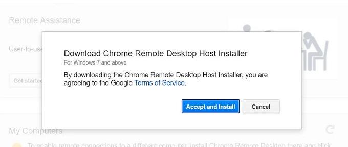 remote desktop host