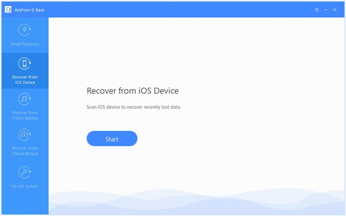 select the 'Recover from iOS Device' option